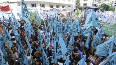 protesta sindical masiva